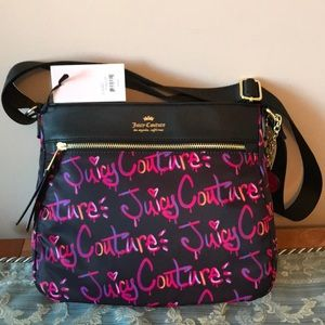 JUICY COUTURE GRAFFITI PRINT CROSSBODY 79.00 NWT